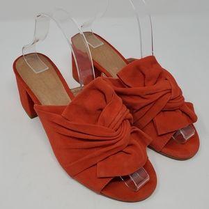 Halogen Coral Peep Toe Slip On Block Heels 8M